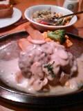神戸屋ホワイトクリームとチーズのハンバーグ