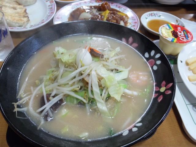 [家族]餃子の王将でちゃんぽん麺