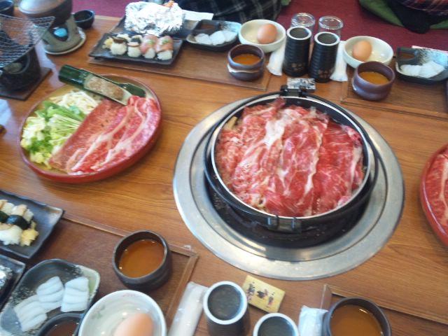 関ヶ原で近江牛のすき焼きと松茸食べ放題