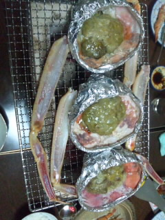 浜坂丸文でカニ料理フルコースを堪能