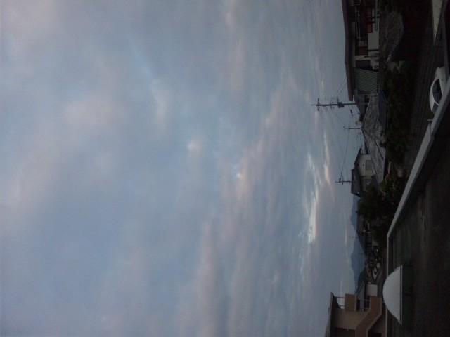 今朝の熊本は曇り空