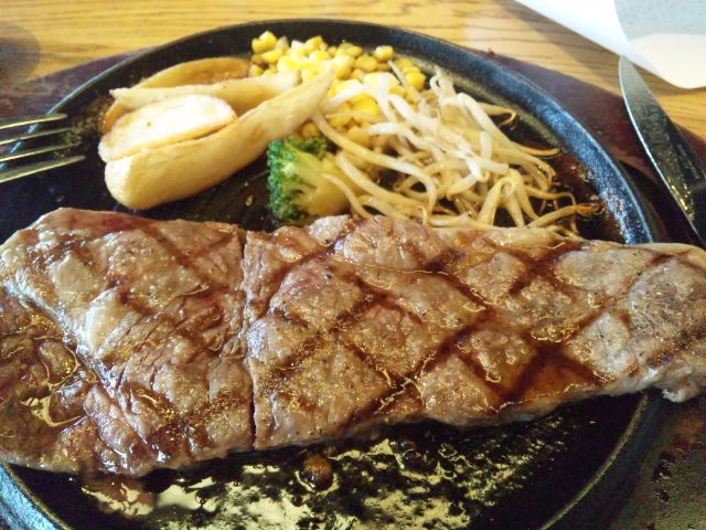 熊本阿蘇の限定20食サーロインステーキいただきました