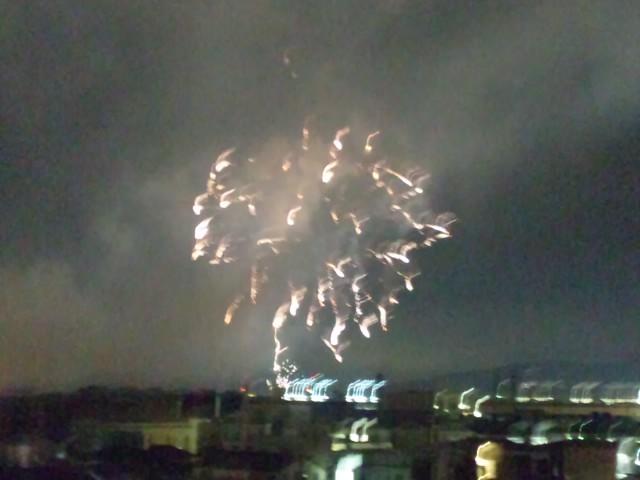 今年の猪名川花火大会 良く見えるな