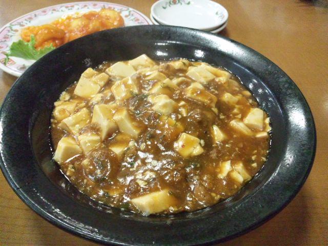 餃子の王将で麻婆豆腐のセットいただきました