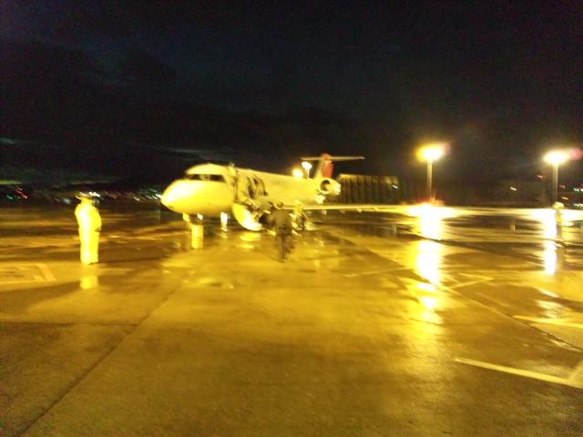 台風の中、大阪から熊本空港まで帰れた。