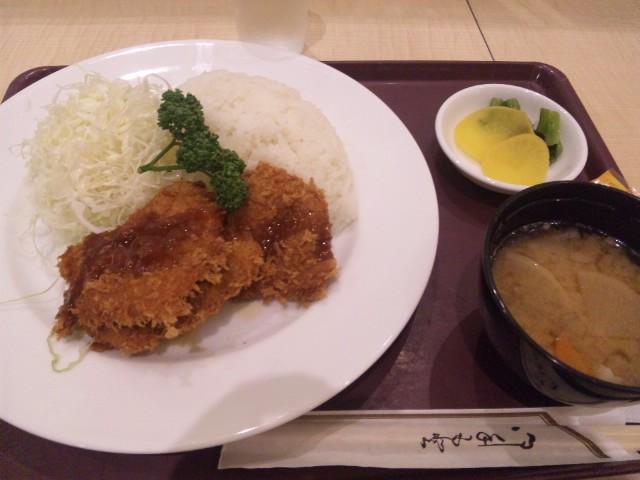 羽田空港で銀座のヒレカツランチいただきました