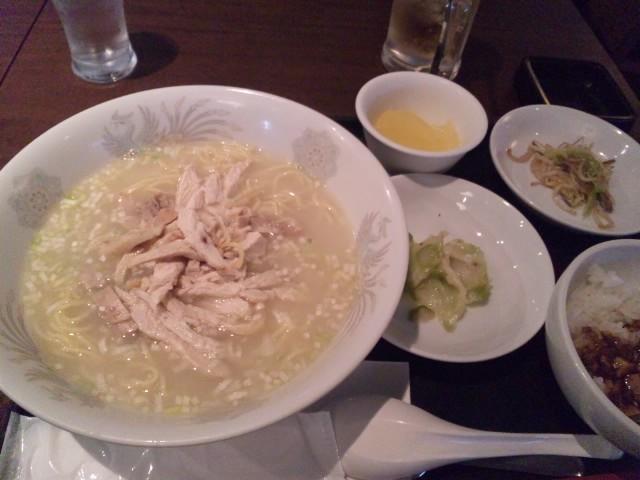 浜松町で中華ランチ あっさり鶏そば 大天門 浜松町