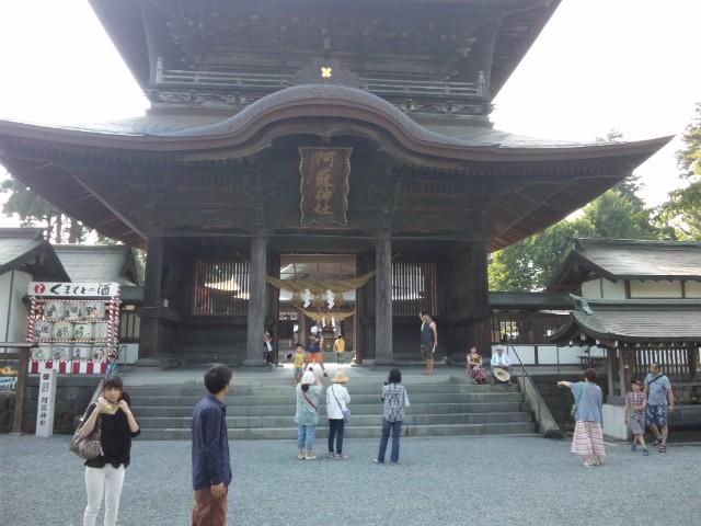 阿蘇神社にやって来ました、門前祭やってたよ
